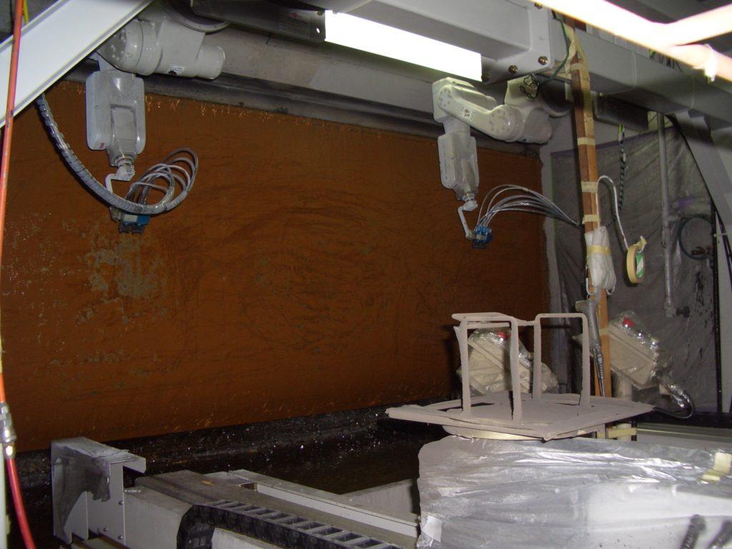 塗装ロボット1,2号機